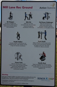 Exercise park sign