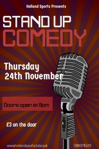 Comedy Night - 24th November 8pm
