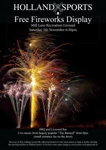 Fireworks Night - FREE EVENT!!!! @ Holland Sports & Social Association | England | United Kingdom