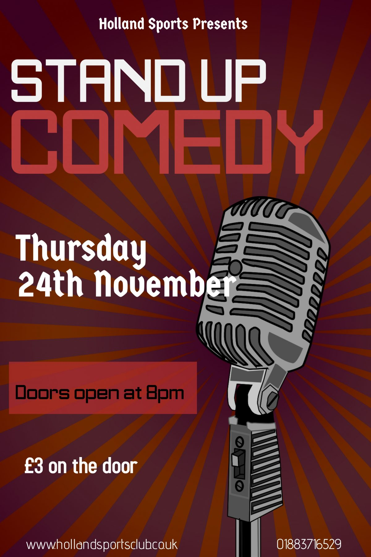 Stand up comedy in Oxted